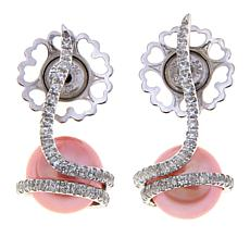 Imperial Pearls 7.5-8mm Blush Cultured Pearl Earrings