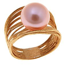 Imperial Pearls  Blush Cultured Freshwater Pearl Gold-Plated Ring
