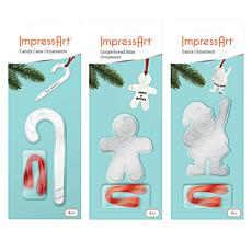ImpressArt Christmas 3-pack Ornament Stamp Kit