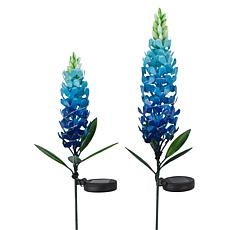 Improvements Solar Flower Stakes Set of 2