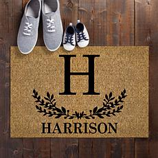 Initial and Name Personalized Doormat