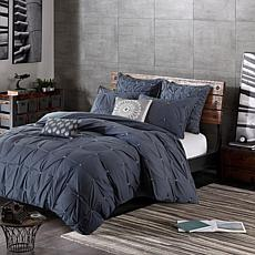 INK+IVY Masie Cotton 3pc Duvet Cover Mini Set - Navy - Full/Queen