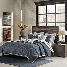 INK+IVY Pomona Cotton 3pc Coverlet Mini Set - Navy - King/Cal King