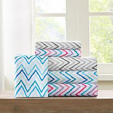 Intelligent Design  Multicolor Chevron Microfiber Printed Sheet