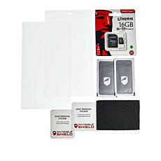 InvisibleShield Fire 8 2-pack Glass Screen Protectors with 2 SD Cards