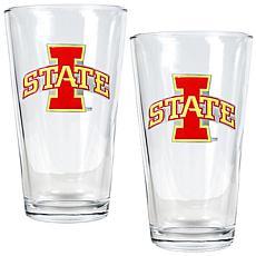 Iowa State Cyclones 2pc Pint Ale Glass Set