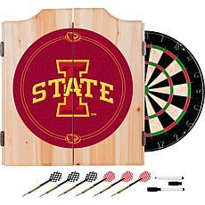 Iowa State University Dart Cabinet with Darts and Board