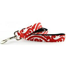 Isabella Cane Cotton Buddha Dog Leash - Red 5' x 1""