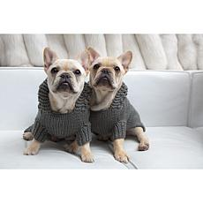 Isabella Cane Doggie Hoodie Sweater - Small/Gray