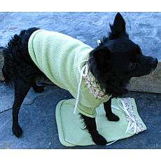 Isabella Cane Knit Dog Sweater - Green XL