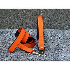 Isabella Cane Small Orange Tango Collar-Leash Set