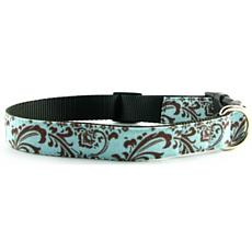 Isabella Cane Trellis Dog Collar - ChocBlue L
