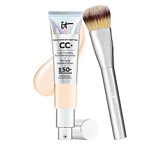 IT Cosmetics Fair Light Full Coverage SPF 50 CC Cream with Plush Brush