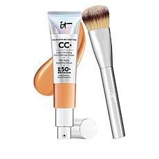 IT Cosmetics Tan Full Coverage SPF 50 CC Cream with Plush Brush