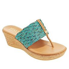Italian Shoemakers Angeles Cork Wedge Sandal