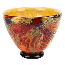 Jack Badash Firestorm Murano Style Art Glass Centerpiece or Punch Bowl
