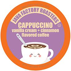 Java Factory Cappuccino Flavored Coffee K-Cups 80-Count