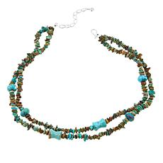 "Jay King 2-Strand Multicut Bead Anhui Turquoise  18"" Necklace"