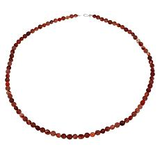 "Jay King 36"" Picante Agate and Strawberry Quartz Bead Necklace"