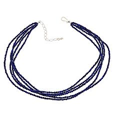 "Jay King 5-Strand Lapis Sterling Silver 18"" Necklace"