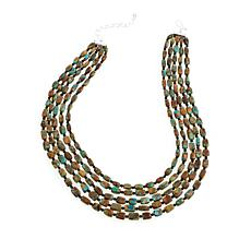 Jay King 5-Strand Turquoise and Black Agate Necklace