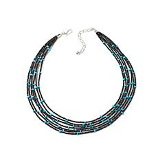 "Jay King 7-Strand Spinel and Turquoise 18"" Necklace"