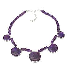 "Jay King African Amethyst Sterling Silver 18"" Necklace"