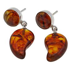 Jay King Amber Sterling Silver Drop Earrings