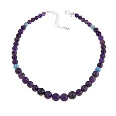 "Jay King Amethyst and Aquamarine 18"" Necklace"