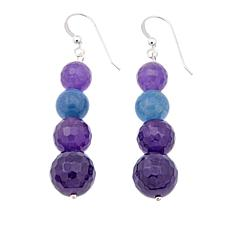 Jay King Amethyst and Aquamarine Earrings