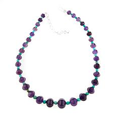 "Jay King Amethyst and Turquoise Bead 18"" Necklace"