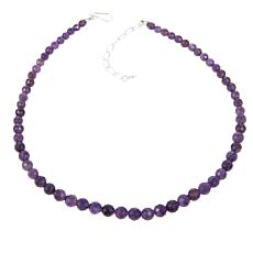 "Jay King Amethyst Faceted Bead 18"" Necklace"