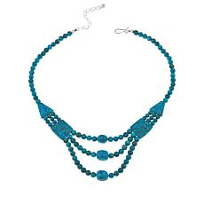 "Jay King Azure Peaks Turquoise 18"" Necklace"