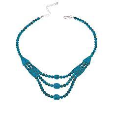"""Jay King Azure Peaks Turquoise 18"""" Necklace"""