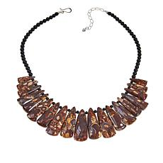 "Jay King Black Agate and Shitake Stone 20"" Necklace"