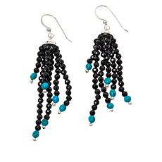 Jay King Black Spinel and Colored Gemstone Bead Waterfall Earrings