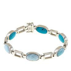 Jay King Blue Aragonite and Turquoise Reversible Bracelet