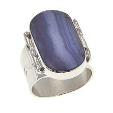 Jay King Blue Lace Agate Sterling Silver Oval Ring