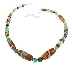 "Jay King Boulder Variscite and Chrysoprase Bead 20"" Necklace"