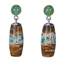 Jay King Boulder Variscite and Chrysoprase Sterling Silver Earrings
