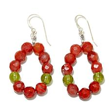Jay King Carnelian and Peridot Earrings