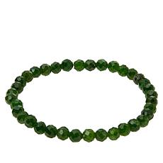 Jay King Chrome Diopside Faceted Bead Stretch Bracelet