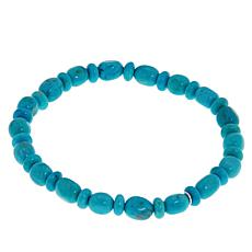 Jay King Cloudy Mountain Turquoise Multicut Bead Stretch Bracelet