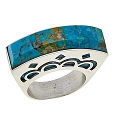 Jay King Compressed Kingman Turquoise Sterling Silver Ring