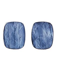 Jay King Cushion-Cut Common Blue Opal Sterling Silver Earrings