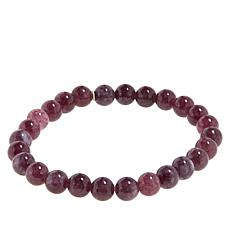 Jay King Dark Pink Lepidolite Bead Stretch Bracelet
