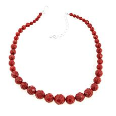 "Jay King Faceted Red Coral Bead 18"" Necklace"