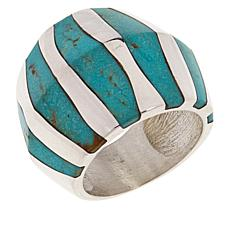 Jay King Gallery Collection Cloudy Mountain Turquoise Inlay Band Ring