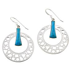 Jay King Gallery Collection Kingman Turquoise Hoop Drop Earrings