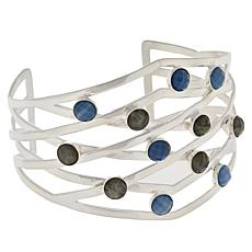 Jay King Gallery Collection Labradorite and Blue Opal Cuff Bracelet